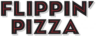 Flippin' Pizza Stacked Logo