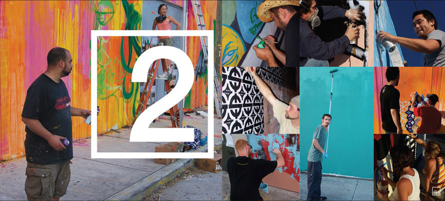 Primary Flight Book documenting the street level artists painting murals outdoors in the Wynwood Arts Disctrict during Art Basel in Miami.