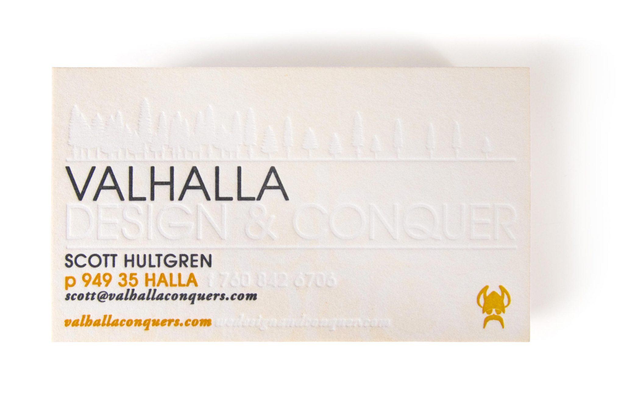 Valhalla Business Card