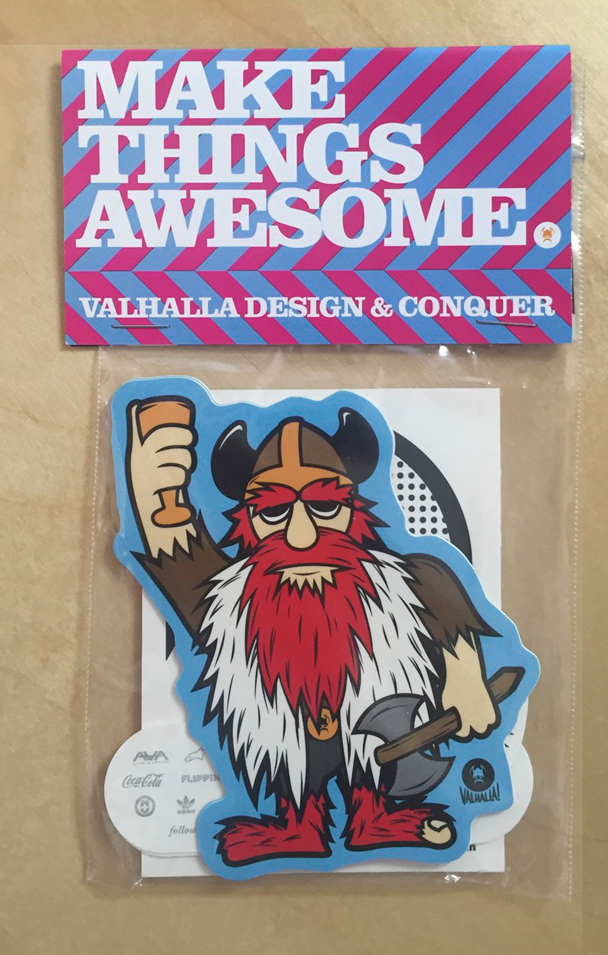 Valhalla Design & Conquer - Promotional Sticker Pack