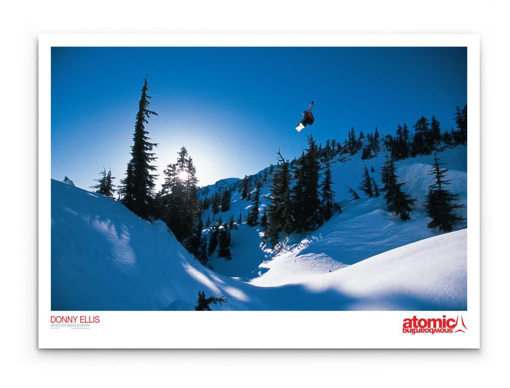 Atomic Snowboarding - Promotional Poster (Donny Ellis)