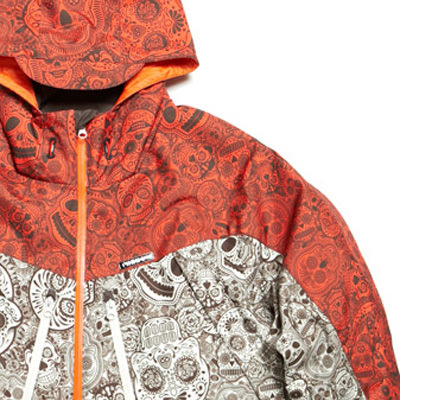 FUBU Outerwear (Korea) - Day of the Dead print detail