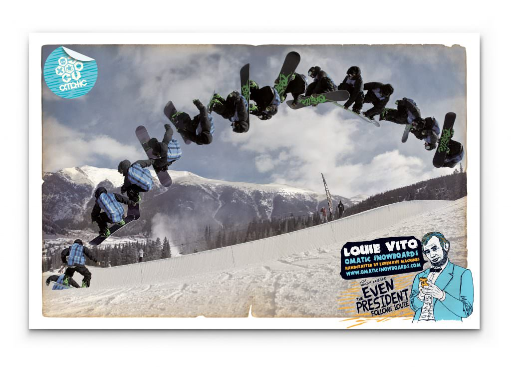 Omatic Snowboards - Promotional Poster (Louie Vito)