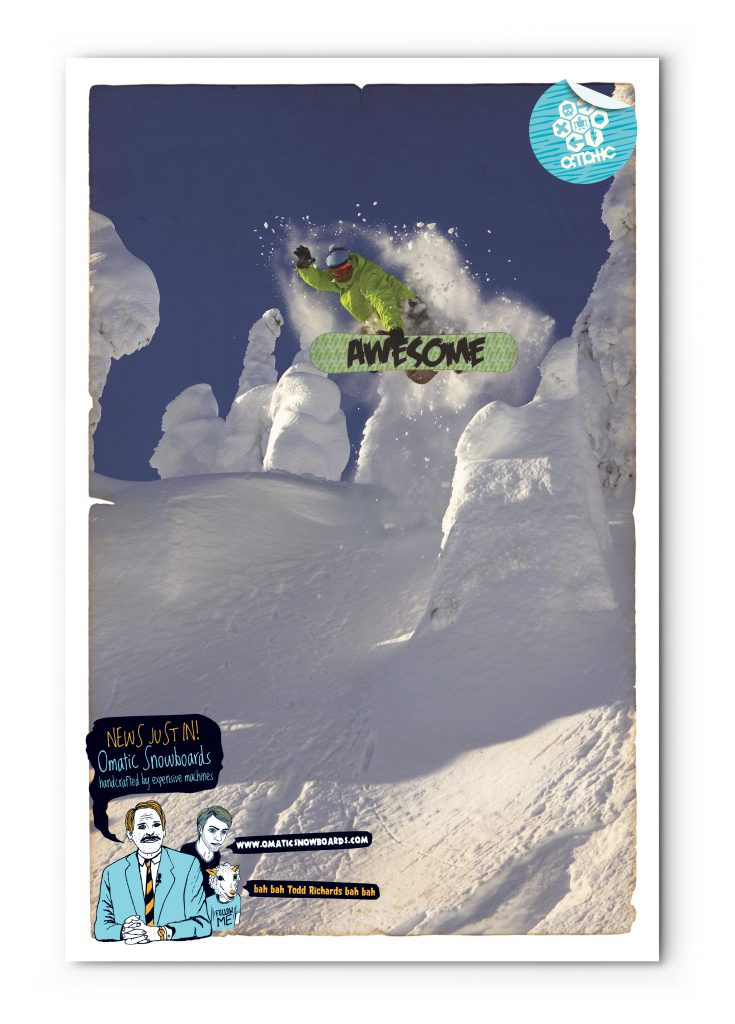 Omatic Snowboards - Promotional Poster (Todd Richards)