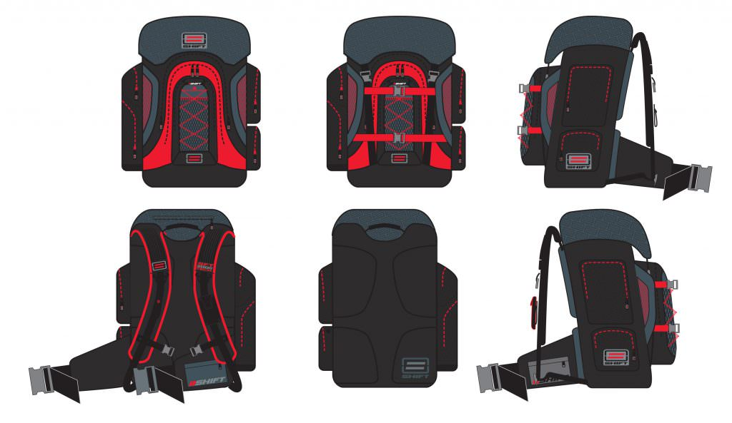 Shift Racing - Technical Backpack design