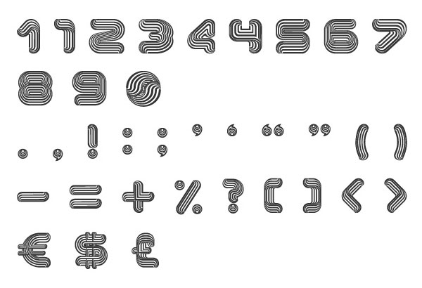Optical Dillusion extended characters