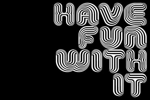 Optical Dillusion font by Valhalla available at You Work for Them