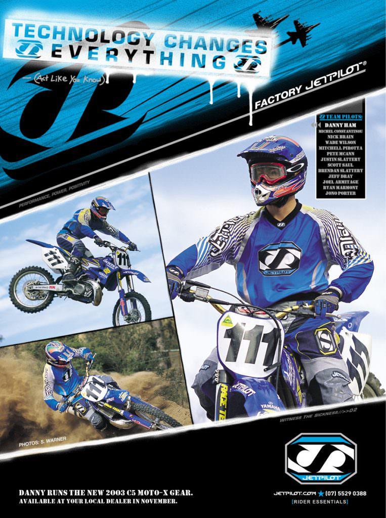 Jet Pilot - Motocross Gear ad